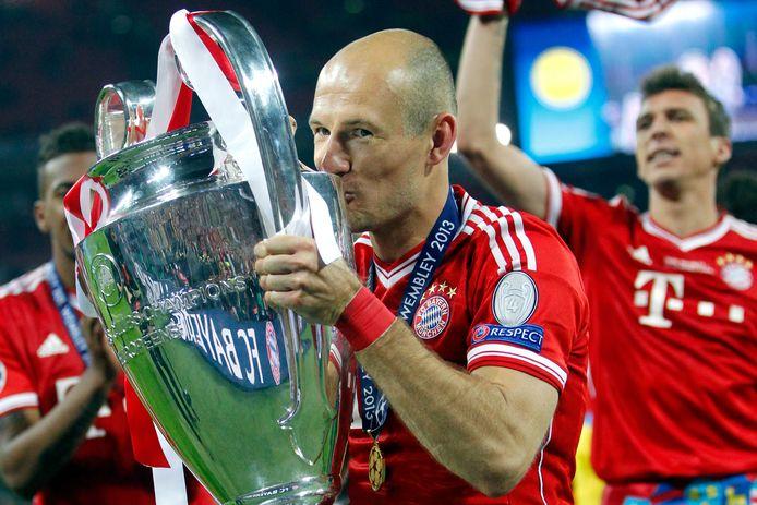 Arjen Robben met de Champions League Cup.