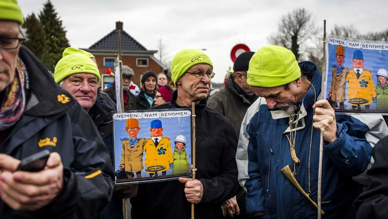 Actievoerders in Groningen. Beeld ANP