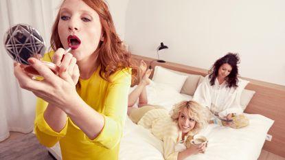 "VIDEO. Vroege vogels Linde Merckpoel,Heidi Van Tielen en Anke Buckinx in NINA: ""Ik ga elke dag om 8 uur slapen"""