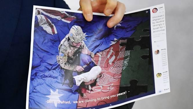 Australië woedend op China wegens delen nepfoto Australische militair
