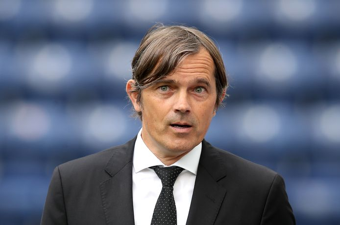 Phillip Cocu, thans trainer van Derby County.