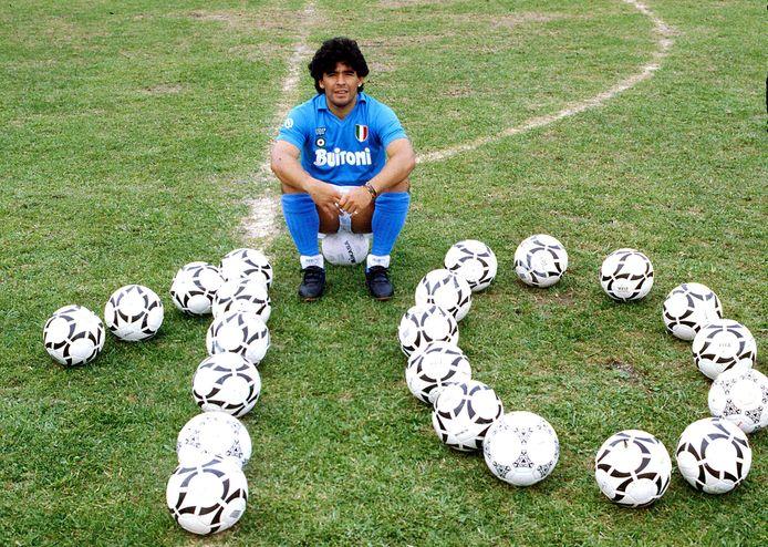 2000: Diego Maradona in Napels.