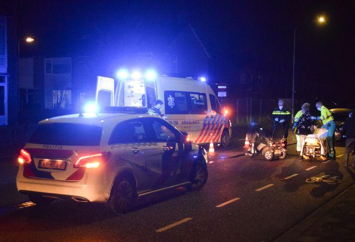 De vrouw kwam ten val op de Rozengaarderweg in Doetinchem.