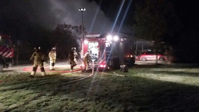 De brandweer in actie in Lettele. Foto: Bas Klaassen