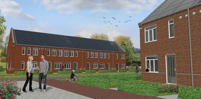 In de nieuwe woonwijk Westwaard in Kaatsheuvel worden 19 energiezuinige woningen gebouwd/Artist impression.