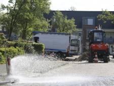 Waterballet in Bunschoten door gesprongen waterleiding