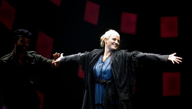 Heitzer tijdens de première van Evita in 2007 Beeld anp