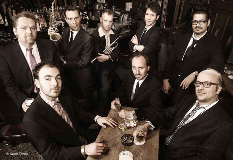 New Cool Colective speelde op IJazz. Hier is de band geportreteerd in de Cotton Club in New York. Foto Kees Tabak Beeld