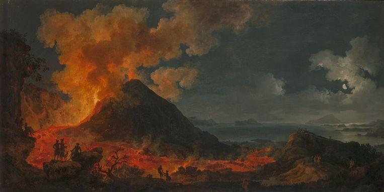 'Uitbarsting van de Vesuvius' van Pierre Jacques Volaire. Beeld © State Hermitage Museum, St Petersburg