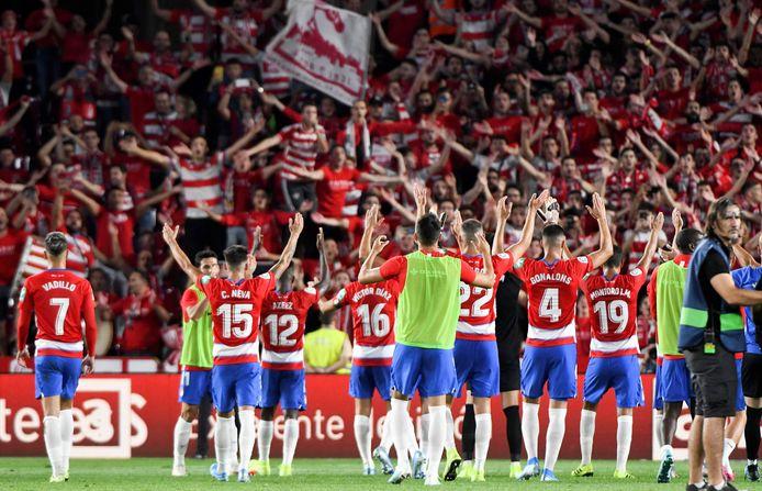Op 21 september won Granada voor eigen publiek met 2-0 van FC Barcelona.