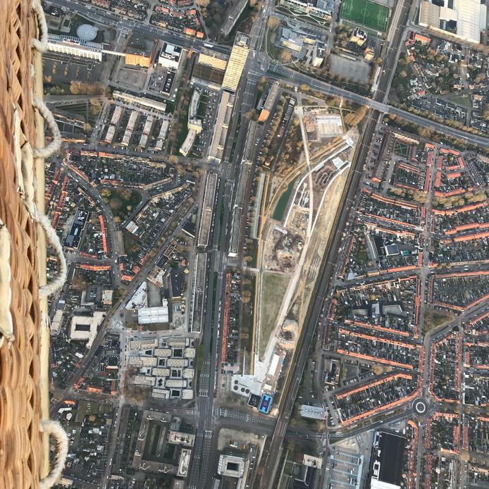 Het Spoorpark vanuit de lucht.