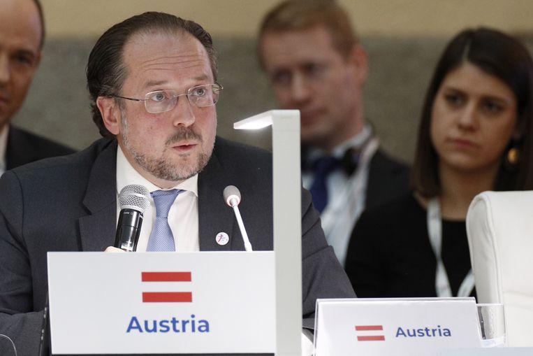 Alexander Schallenberg, de Oostenrijkse minister van Buitenlandse Zaken. Beeld AFP