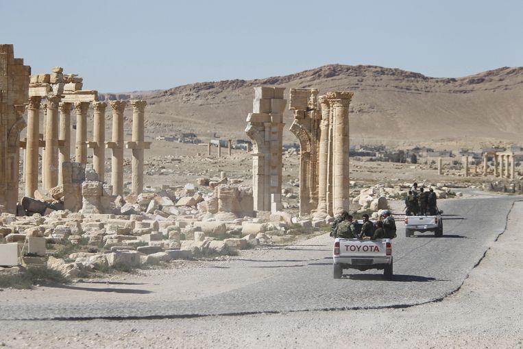 De aanvallen werden in de woestijn uitgevoerd, in het oosten van de provincie Homs