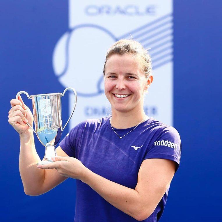 Kirsten Flipkens pakte in Houston haar tweede WTA-titel.