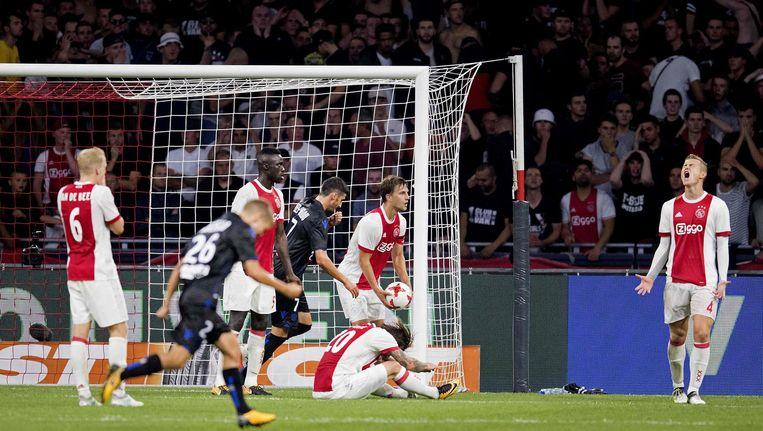 De 2-2 die de uitschakeling voor Ajax betekende Beeld afp
