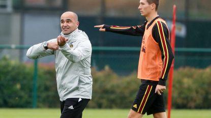 """Roberto Martinez: """"Lukaku speelt zeker een van de twee matchen, ook Vanaken krijgt minuten"""""""