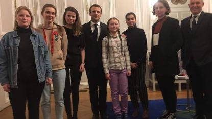"""Macron ontvangt Greta Thunberg, Anuna De Wever en Kyra Gantois in het Elysée:  """"Het was een positieve ontmoeting"""""""