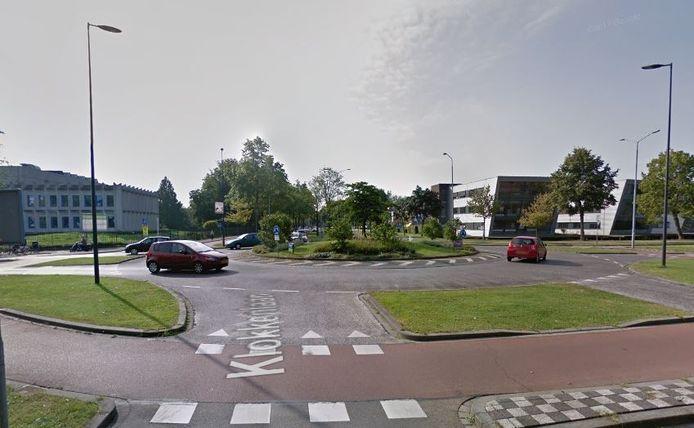 De rotonde Rompertsebaan-Sint-Teunislaan-Klokkenlaan in Den Bosch.
