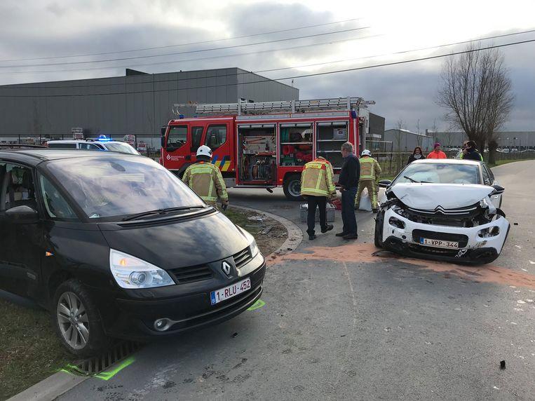 Het ongeval gebeurde op een kruispunt.
