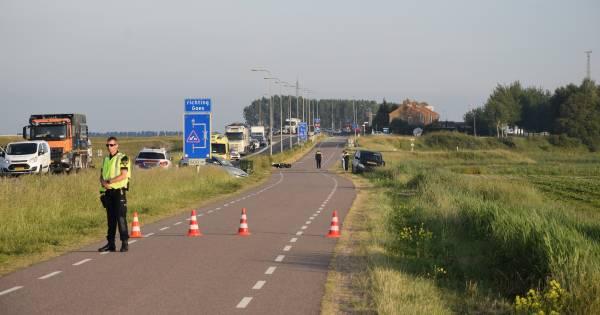 Motorrijder verongelukt op Deltaweg bij Kats.