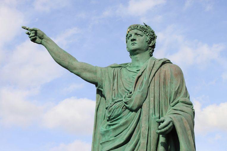 Standbeeld van Nero in Anzio in Italië.
