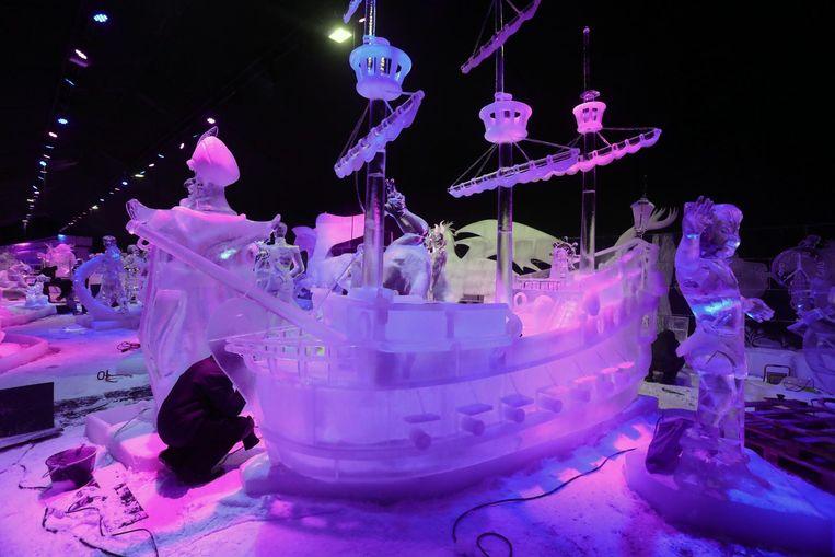 Een indrukwekkende piratenboot vormt de blikvanger bij uitstek.