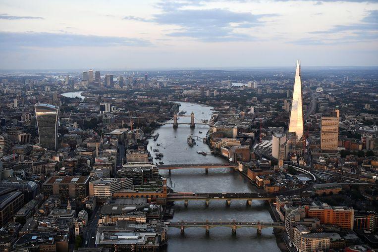 Londen. Groot-Brittannië houdt zich in de overgangsfase nog aan alle EU-regels. Beeld Getty Images
