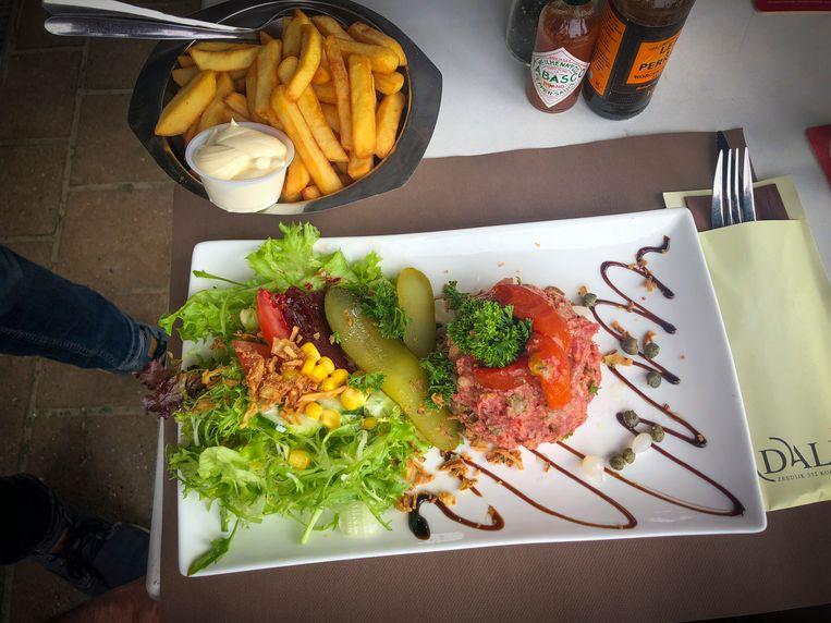 Steak tartaar bij Dali in Koksijde.