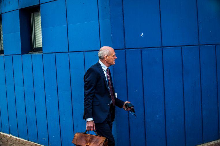 De Twentse ondernemer Gerard Sanderink vorige week bij de rechtbank in Almelo  Beeld Arie Kievit