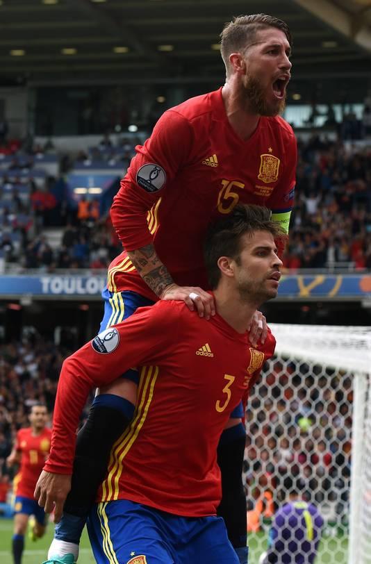 Sergio Ramos en Gerard Piqué.