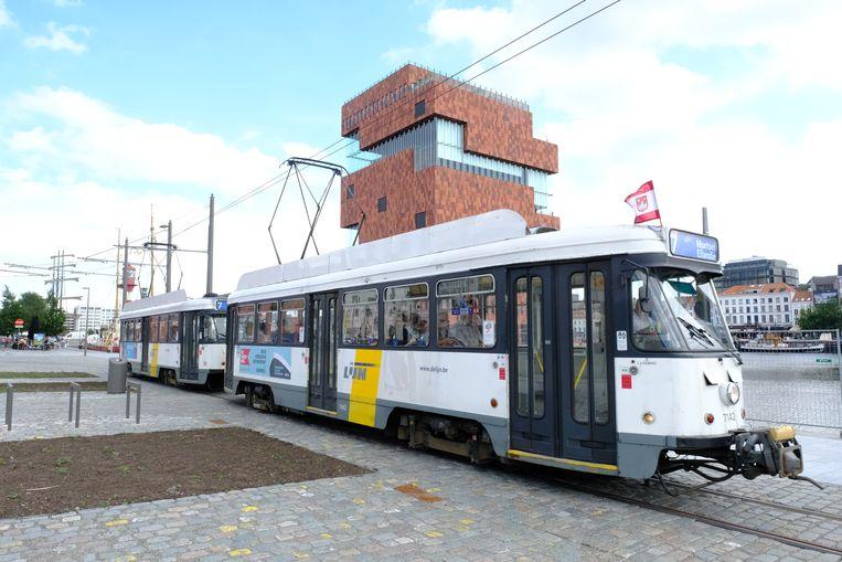 De tram verbindt momenteel het Eilandje in Antwerpen (op de foto) met het stadscentrum in Mortsel.