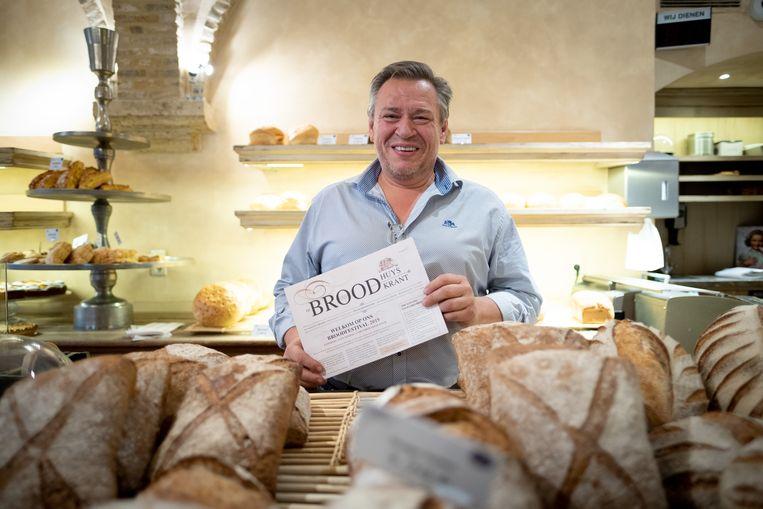 Bert Van Rompaey van Het Broodhuys organiseert het Broodfestival.