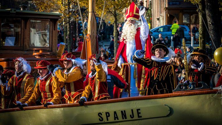 De intocht van Sinterklaas in Amsterdam vorig jaar. Beeld ANP