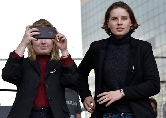Terwijl Anuna De Wever (rechts) uitgroeide tot het gezicht van Youth For Climate, verdween Kyra Gantois meer en meer achter de schermen.