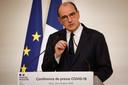 Frans premier Jean Castex maakt de uitbreiding van de maatregelen bekend.