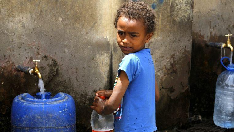 Ongeveer honderdduizend mensen zijn inmiddels op de vlucht geslagen voor het geweld in Jemen. Beeld epa
