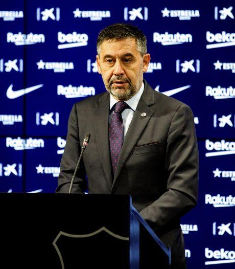 """""""Il n'y a pas de raisons de démissionner"""", assure le président du FC Barcelone"""