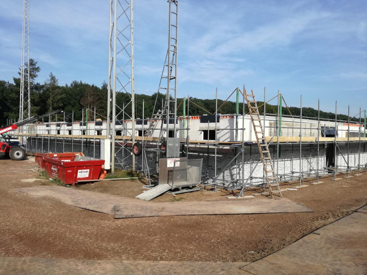 Clubhuis RPC in aanbouw op sportpark De Heihoef.