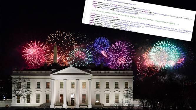 Ook website Witte Huis krijgt update: Spaanse versie weer online en 'geheime' boodschap
