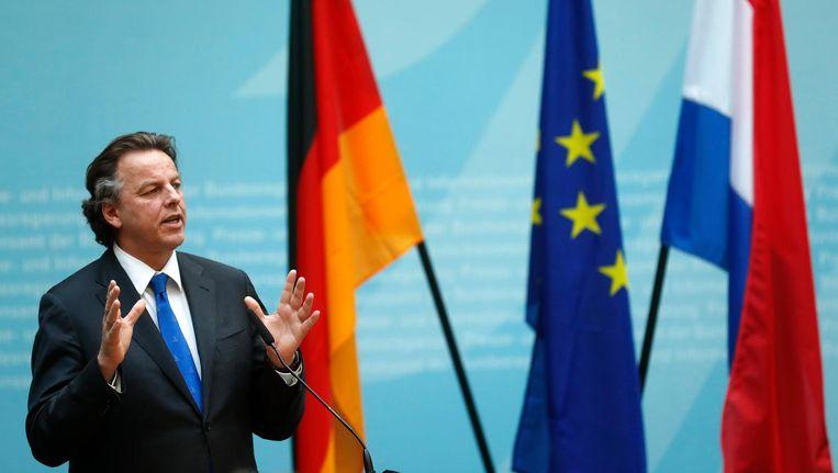 Minister Koenders (Buitenlandse Zaken) tijdens een Duits-Nederlandse bijeenkomst in Berlijn, half januari. Beeld epa