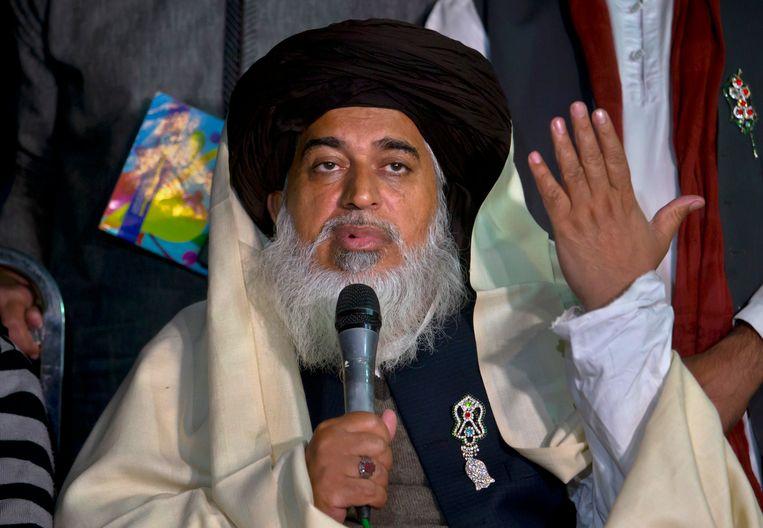 Khadim Hussain Rizvi, leider van de Pakistaanse partij Tehree-e-Laibak. Beeld AP