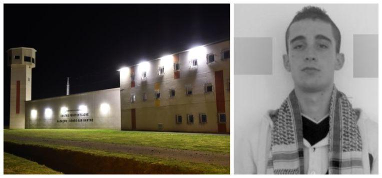 Michaël 'Abdel-Karim' Chiolo zit een jarenlange celstraf uit in de extra beveiligde gevangenis in Condé-sur-Sarthe in Normandië.