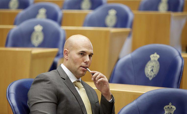 Joram van Klaveren in 2013 in de plenaire zaal van de Tweede Kamer.  Beeld ANP