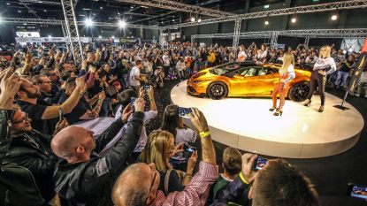 VIDEO. Lamborghini in bladgoud onthuld op GR8 Car Show