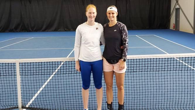 """Toptennissters Alison Van Uytvanck en Greet Minnen trainen in Denderleeuw: """"Identieke ondergrond als hardcourt Australian Open"""""""