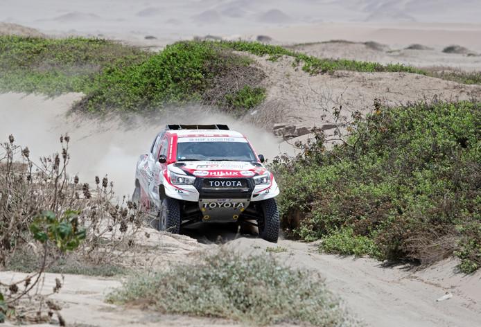 Bernhard Ten Brinke van het Toyota Gazoo Racing- team werd woensdag zevende in de derde etappe van Dakar 2019.