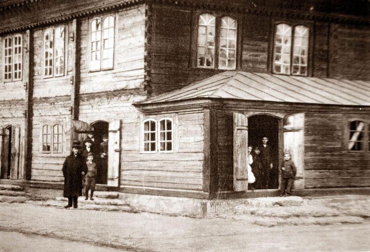 Synagoge in Jedwabne voor de oorlog. Beeld Getty Images