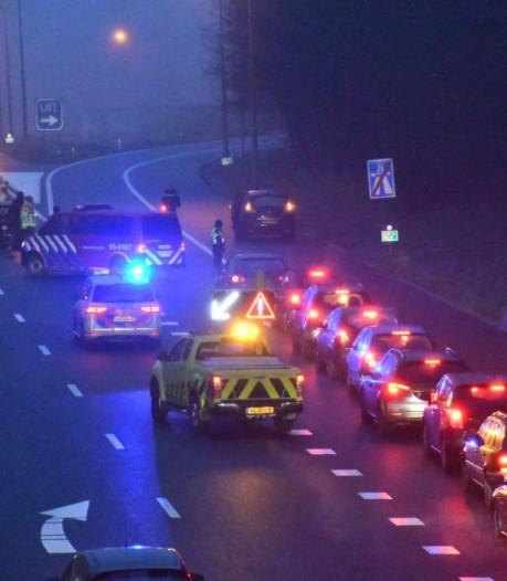 Ongeluk in spits op uitvoegstrook Enschede-Zuid: file opgelost