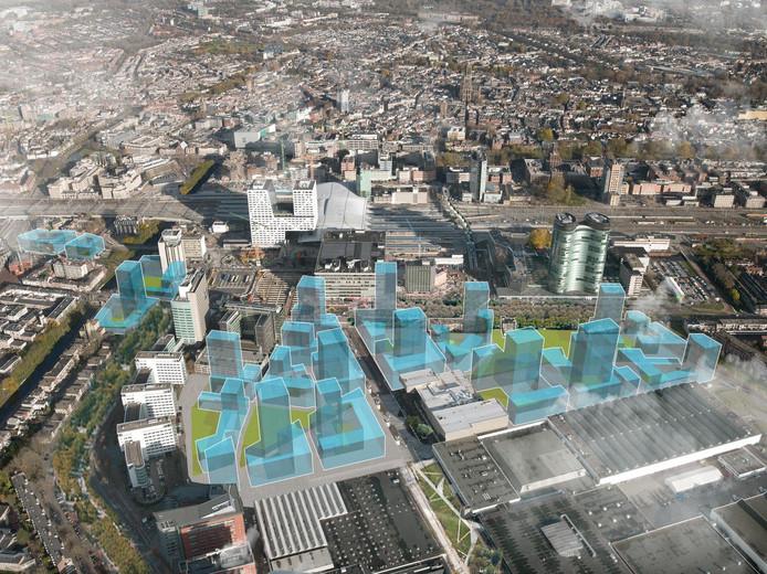 De nieuwbouw aan de westkant van Utrecht volgens de plannen van de gemeente