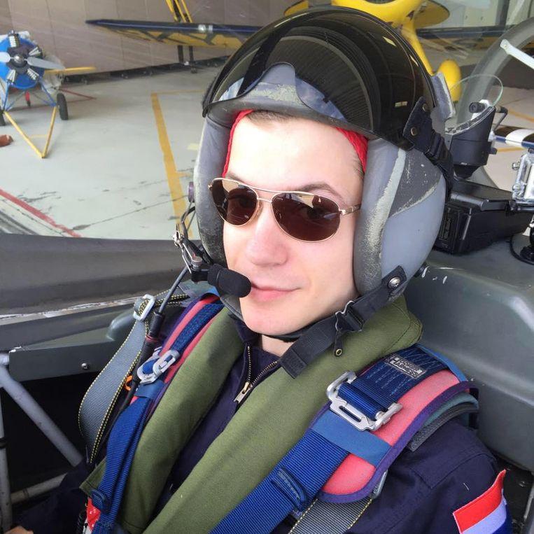 Rowin Hellings tijdens een training voor de ruimtereis. Beeld